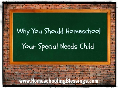 Why You Should Homeschool Your Special Needs Child