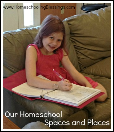 HB Our Homeschool Spaces and Places Featured Image