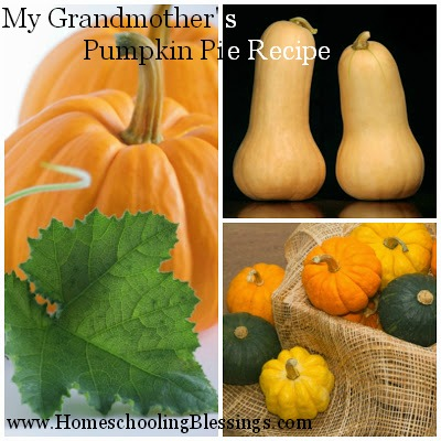 HB Pumpkin Pie Recipe